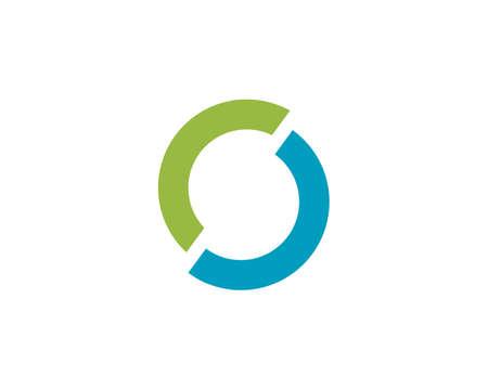 Technology circle logo and symbols Vector
