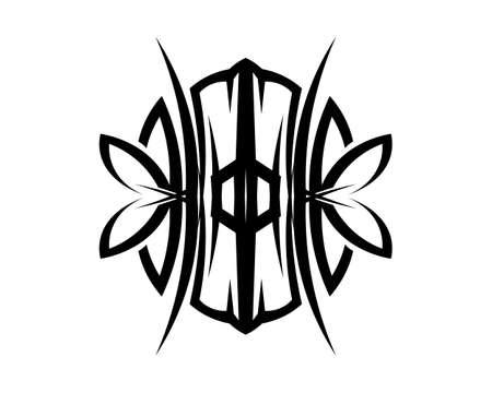 tribal ethnic tattoo icon vector illustration design Vettoriali