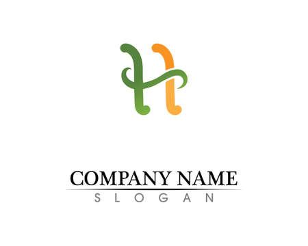 H Letter Template Design Vector illustration