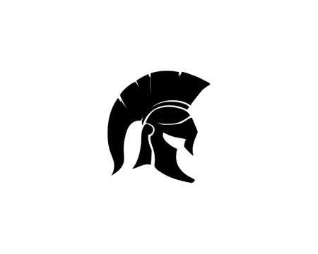 spartan and vector design helmet and head