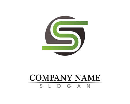 Business corporate letter S logo design vector