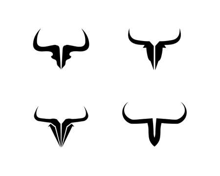 Bull horn and symbols template icons app