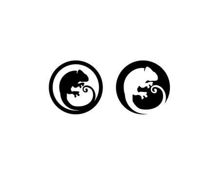 Lizard vector, design, animal, and reptile, gecko  イラスト・ベクター素材