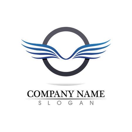 Black wing logo symbol for a professional designer Logo
