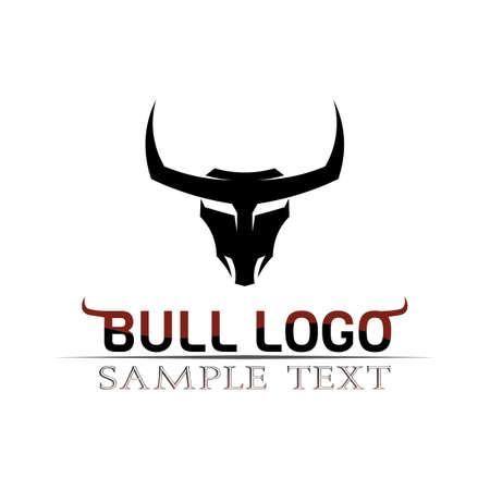 Bull horn logo and symbols template icons app Logo