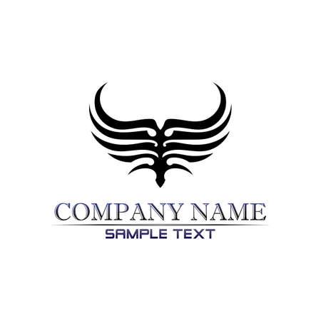 Black wing logo symbol for a professional designer