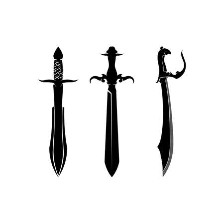 Cross swords icon flat. Simple vector symbol and bonus icon Ilustração