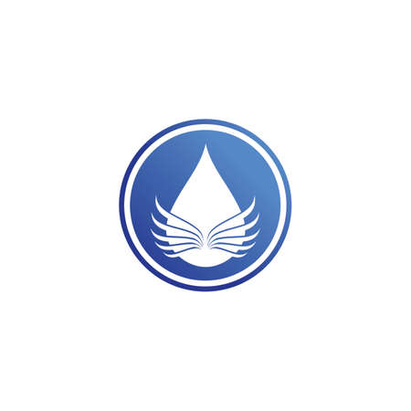 water and Waves beach logo and symbols template icons app
