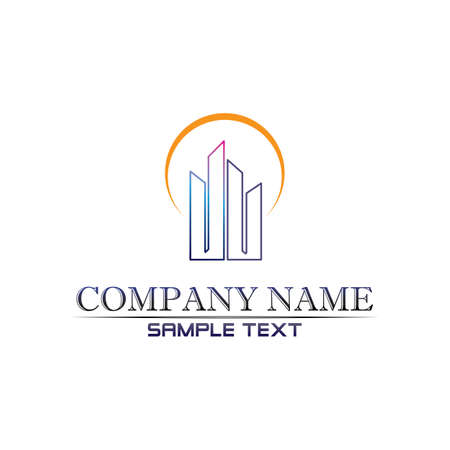 Real estate and home buildings logo icons template