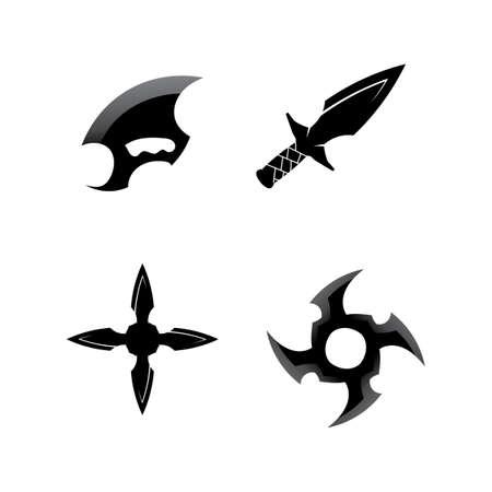 Cross swords icon flat. Simple vector symbol and bonus icon