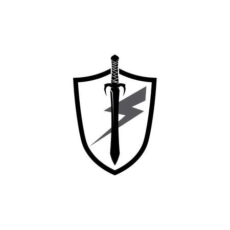 Cross swords icon flat. Simple vector symbol and bonus icon Illustration
