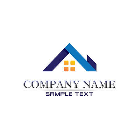 Real estate and home buildings logo icons template Logo