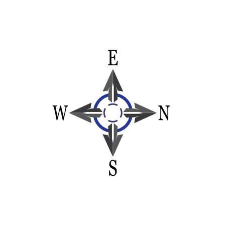 Vector Compass signs and symbols logo 일러스트