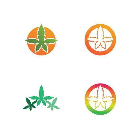 cannabis marijuana vector logo and design