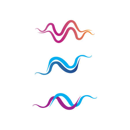 illustration of the sound wave icon vector icon template logo