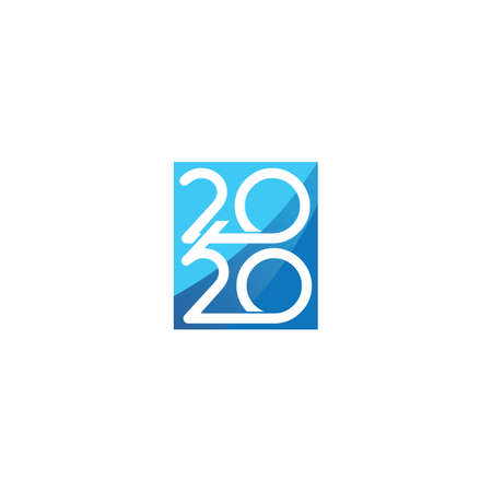 Happy New Year 2020 vector design and logo