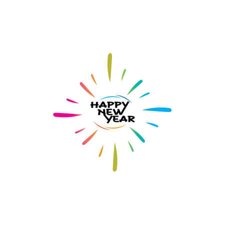 Happy New Year vector design and text