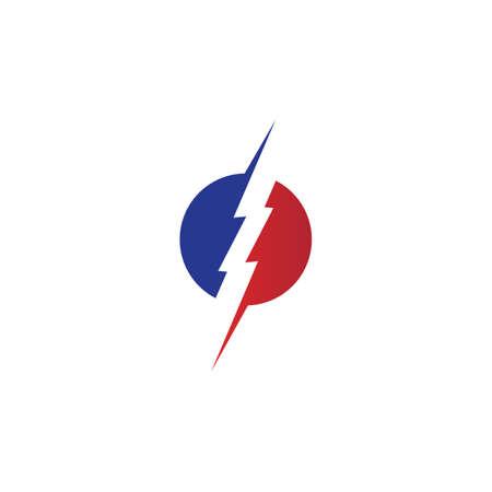 bolt electric Vector lightning icon logo and symbols Ilustrace