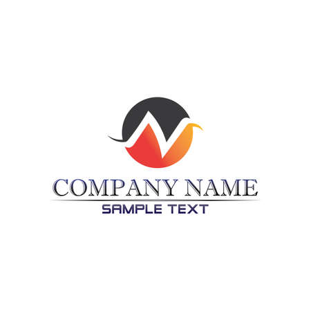 N Letter Logo Template vector and desain