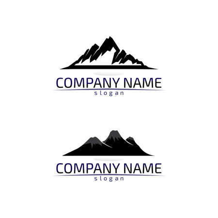 Mountain nature landscape logo and symbols icons template design Vector Logo