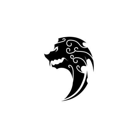 tribal, classic , black, ethnic tattoo icon vector illustration design
