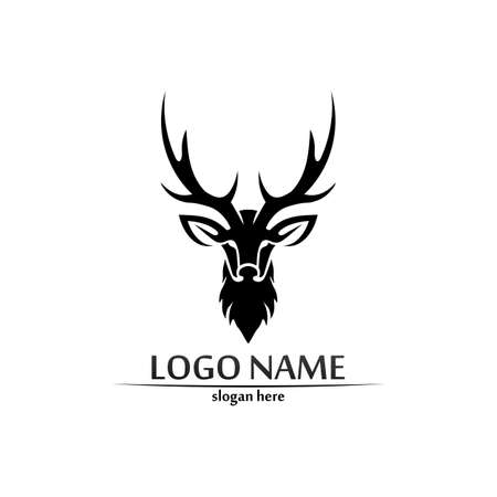 deer animal horn and mammal design and graphic vector