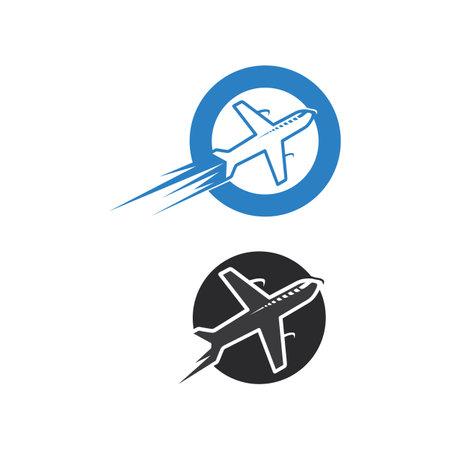 Flight aeroplane vector and logo design Transportation