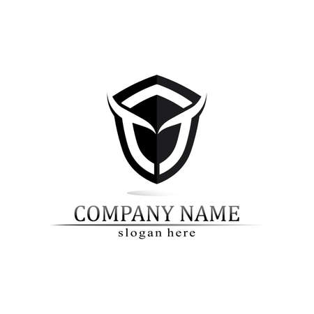 Bull horn and buffalo logo and symbols template icons app Logo