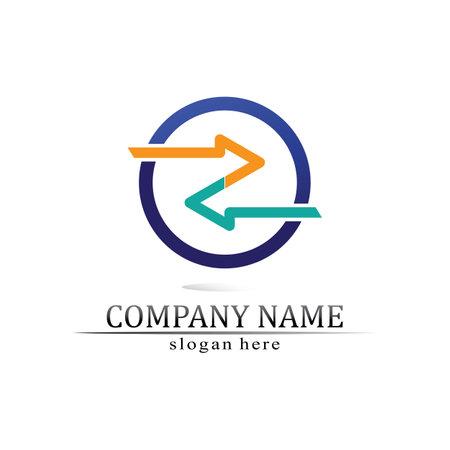 Arrow vector illustration icon Logo Template design Logo