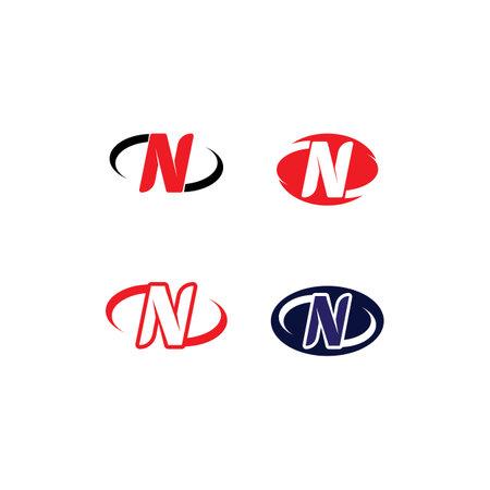 N Letter Logo Template vector icon illustration design
