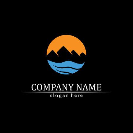 Water wave icon vector illustration design logo 矢量图像