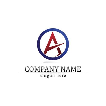 A Letter Logo Template vector icon illustration design