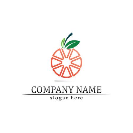 O logo Business Technology circle logo and symbols Vector Design Graphic
