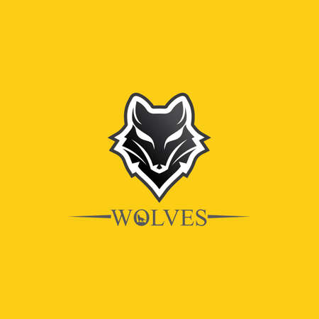 Wolves logo, fox, wolf head. animal vector and logo design wild roar dog illustration.