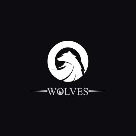wolves logo, fox, wolf head, animal vector and logo design wild roar dog illustration.