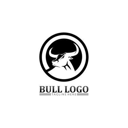 Bull buffalo head, cow, animal mascot logo design vector for sport horn buffalo, animal, mammals, head logo, wild, matador