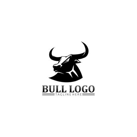 Bull buffalo head, cow, animal mascot logo design vector for sport horn buffalo, animal, mammals, head logo, wild, matador