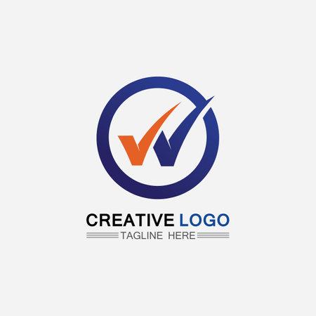 Checklist check mark logo vector or icon. Tick symbol in green color illustration. Accept okey symbol for approvement or cheklist design Logo