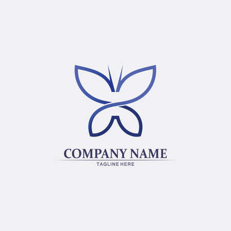 Vector Butterfly conceptual simple, colorful icon. Logo. Vector illustration