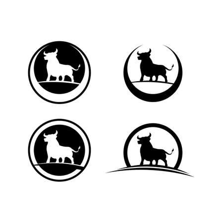 Bull buffalo head cow animal mascot design vector for sport horn buffalo animal mammals head wild matador