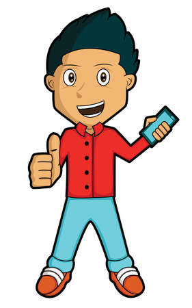 Youngman with Smartphone