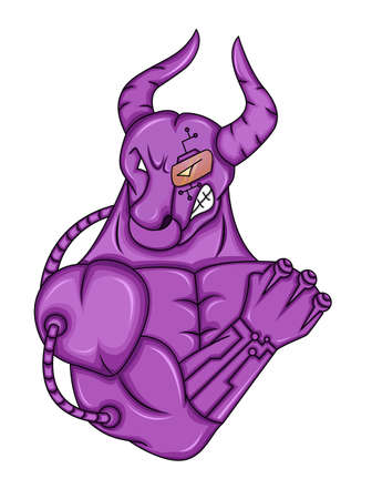 bionic: Bionic Bull Illustration