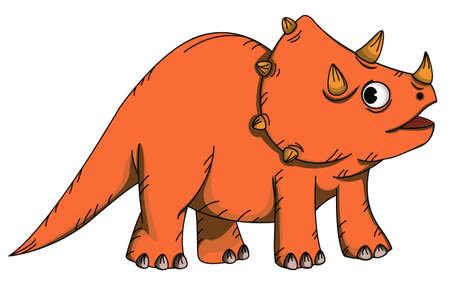 frill: Triceratops Cartoon Illustration