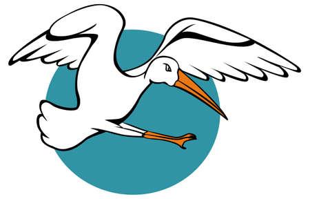 blue heron: Stork Flying