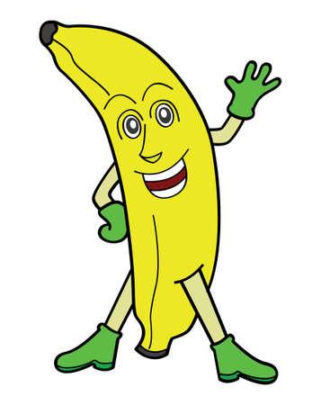 Banana Cartoon Illustration