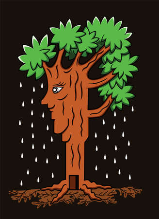 plant stand: Illustration of a beautiful living tree