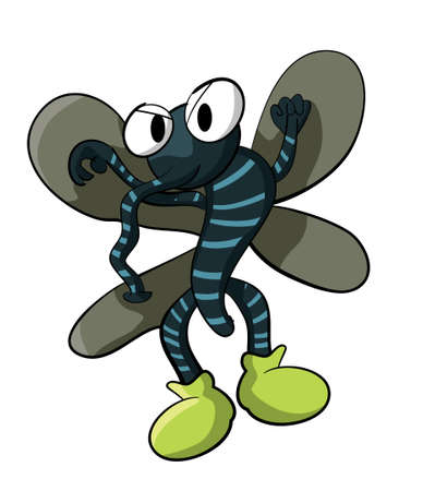 Cartoon illustration of a mosquito