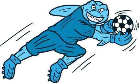Shark Doelman vangen Illustratie Ball Cartoon
