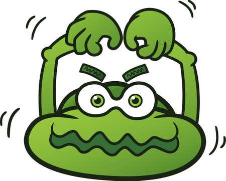 big head: Big Head Monster Cartoon Illustration Illustration