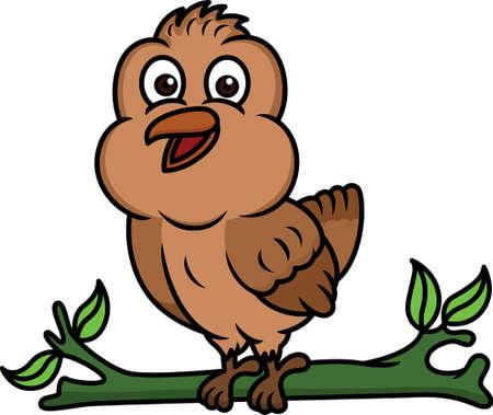 sparrow bird: Sparrow Bird Cartoon